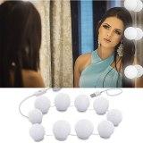 10 BulbsMakeup Mirror Vanity LED Light Bulbs Kit USB Charging Port Cosmetic Bulb Adjustable Make up Mirrors Brightness lights