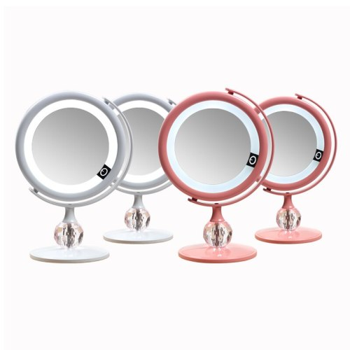 LED mirror Makeup Mirror Touch Screen Luxury Mirror With 3 luminosity LED Lights 180 Degree Adjustable Table Make Up Mirror