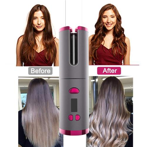 Automatic Curling Iron Rotating Air Curler Wireless Hair Styling Curling Wand USB Rechargeable Professional Cordless Hair Curler
