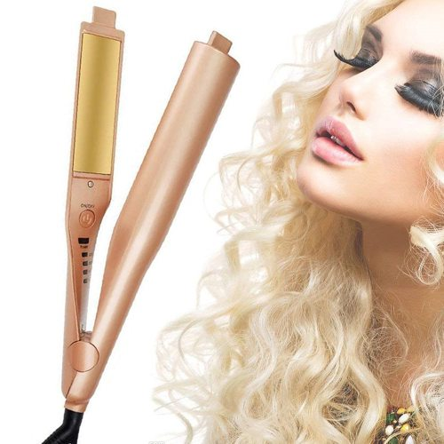 Professional 2 in 1 Twist Hair Curler and Straightening Iron Beach Wave Curling Iron Hair Straightener Flat Iron Curling Tongs