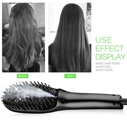LCD Display Hair Brush Straightener Electric Hair Comb Beard Straightener Ionic Steam Straightening Comb Hair Styling Tools