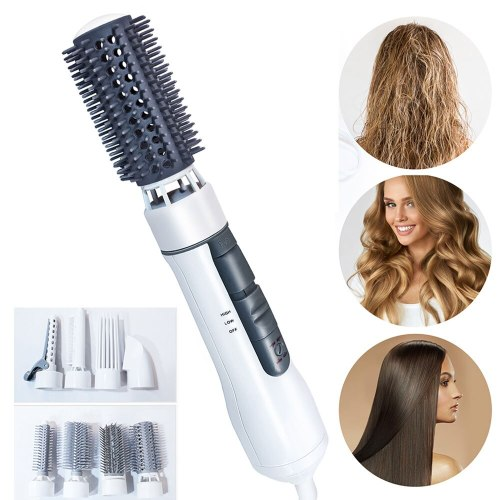 One Step Hair Dryer Round Brush Blow Dryer Rotating Hot Air Brush Multifunctional Hot Comb Hair Straightener Comb Curling Brush