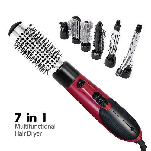 One Step Hair Dryer Brush 7 in 1 Hot Air Brush Hair Blow Dryer Volumizer Hair Straightener Curler Comb Travel Hairdryer Brush