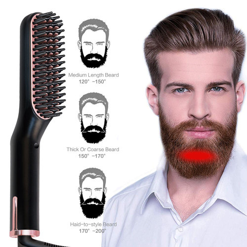Hair Straightener Brush Multifunctional Electric Heated Comb Ceramic Hair Iron Straightening Comb Men Beard Straightener Brush