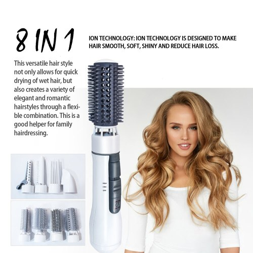 Hot Air Brush One Step Hair Dryer Volumizer Styler Professional Blow Dryer Round Brush Hair Straightener Curler Comb Hairdryer