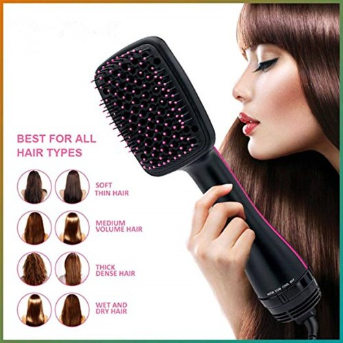 Portable Hair Dryer With Brush Hot Air Brush Electric Blow Dryer Comb Hair Straightener Comb Curling Brush Tangle Hair Comb