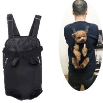 Pet Carry Adjustable Dog Backpack Kangaroo Breathable Front Puppy Dog Carrier Bag Pet Carrying Travel Legs Out Easy-Fit S/M/L/XL
