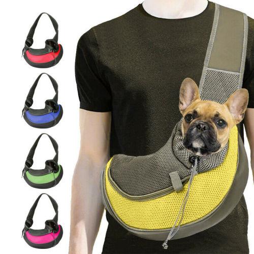 Pet Puppy Dog Carrier Backpack Travel Tote Shoulder Bag Mesh Sling Carry Pack Comfort Travel Tote Shoulder Bag Sling Backpack