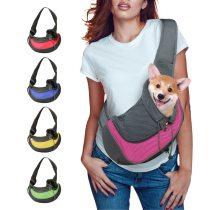 Pet Puppy Carrier S/M Outdoor Travel Dog Shoulder Bag Mesh Oxford Single Comfort Sling Handbag Tote Pouch