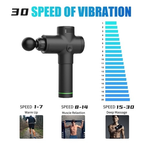 2500mah low noise 30 Speed shifting Therapy Massage Gun stouch screen  Gears Muscle Massager Pain Sport Massage Gun Relax Body Slimming including Case