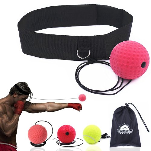 Boxing Reflex Speed Punch Ball Training Hand Eye Coordination with Headband Improve Reaction Muay Thai Gym Exercise Equipment