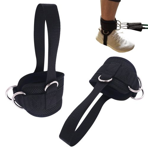 2 PCS D-ring Ankle Strap Ankle Cuffs for Gym Glute Ab Leg Workouts Leg Weights Lifting Exercises Stretch Ankle Anchor Belt