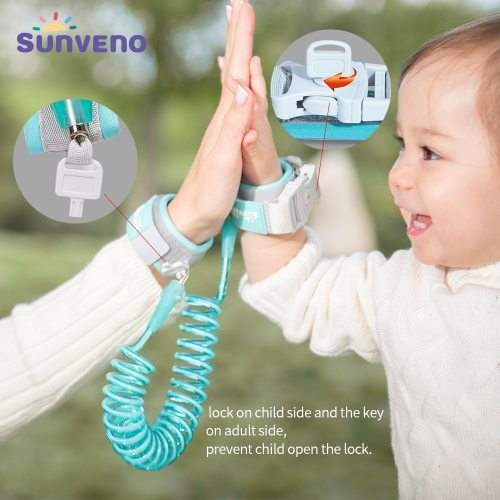 Baby Anti Lost Wrist Link Safety Harness Strap Rope Leash for Toddlers, Babies & Kids 1-10 years Length 2M