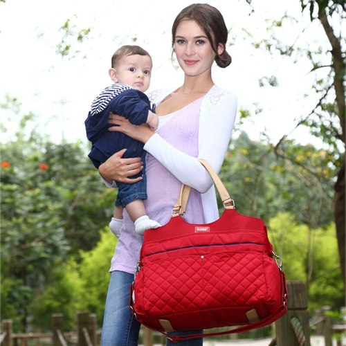 Fashion Mummy Maternity Nappy Bag Large Capacity Nappy Bag Travel Backpack Nursing Bag for Baby Care Women's Fashion Bag