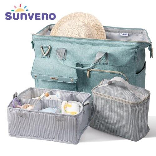 Diaper Bag 34L Large Capacity Baby Nappy Bag Waterproof Fashion Mother Shoulder Bag Maternity Baby Travel Bag 3in1