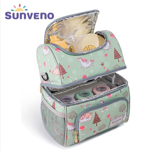 New Fashion Bottle Bag Keep Fresh Insulation Bag Skip Zoo Unicorn Pattern Thermal Bag for Bottles Baby Bottle Holder