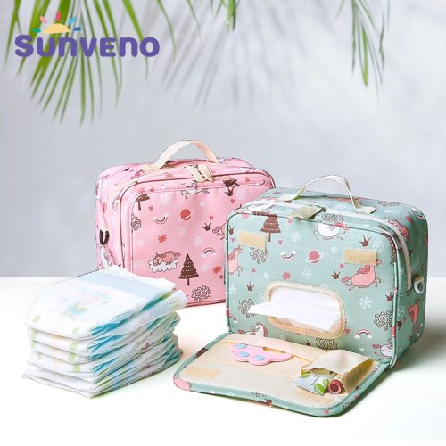 Fashion Wet Bag Waterproof Diaper Bag Washable Cloth Diaper Baby Bag Reusable Wet Bags 23x18cm Organizer For Mom