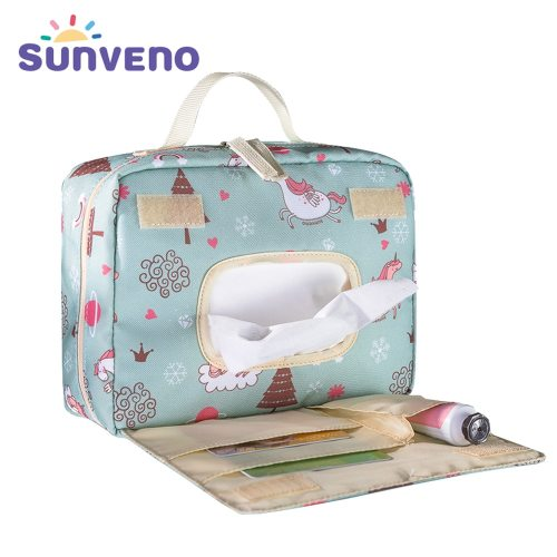 Baby Diaper Bags Maternity Bag for Disposable Reusable Fashion Prints Wet Dry Diaper Bag Double Handle Wetbags 21*17*7CM
