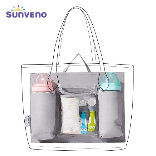 Diaper Bag Insert Baby Bag Organizer for diapers Nappy Bag Inner Container for Mom with 5 Pockets Baby Gear