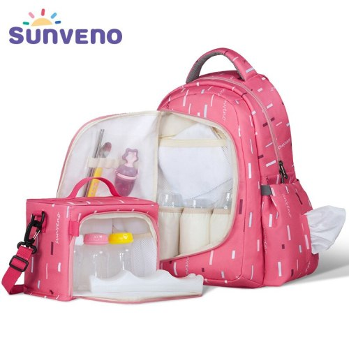 2in1 Diaper Bag Fashion Mummy Maternity Nappy Bag Baby Travel Backpack Organizer Nursing Bag for Baby Care Mother & Kids