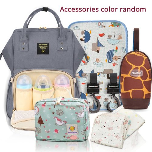 Mommy Diaper Bag Large Capacity Baby Nappy Bag Designer Nursing Bag Fashion Travel Backpack Baby Care Bag for Mother Kid