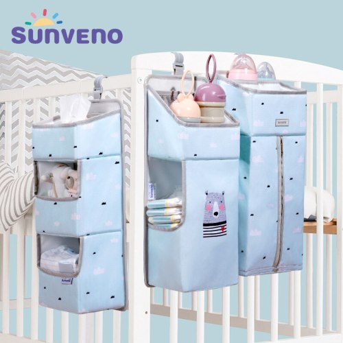 Baby Storage Organizer Crib Hanging Storage Bag Caddy Organizer for Baby Essentials Bedding Set Diaper Storage Bag
