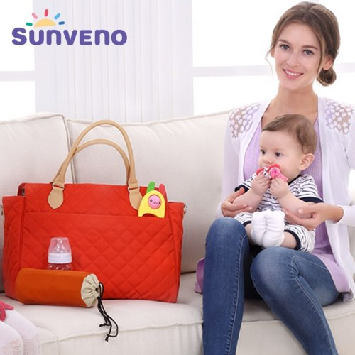 New Brand Diaper Bag For Mammy Argyle Checked Quilted Women Mummy Fashion Baby Nappy Bag Tote Multicolor