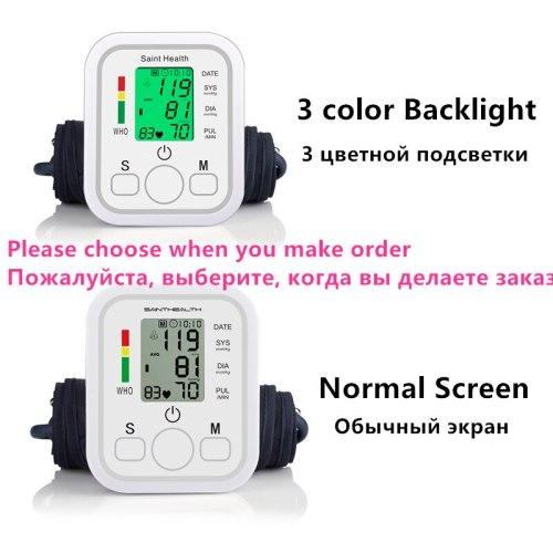 Saint Health Arm Automatic Blood Pressure Monitor BP Sphygmomanometer Pressure Meter Tonometer for Measuring Arterial Pressure