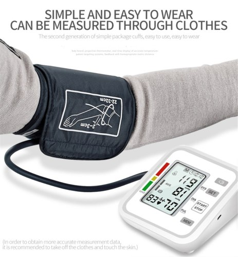 English Automatic Upper Arm Type Electronic Blood Pressure Monitor For Home Medical English Voice Broadcast