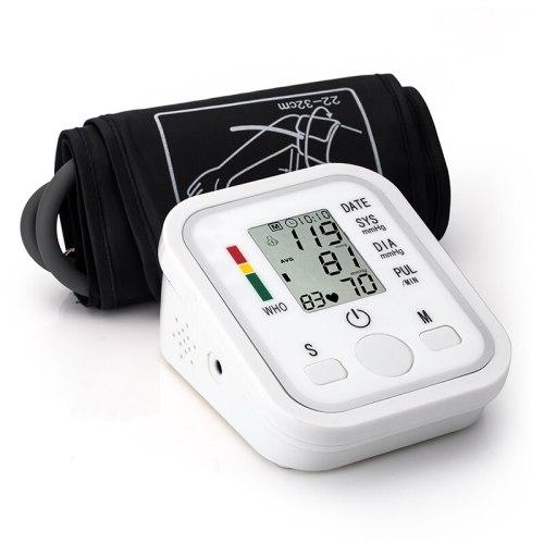 Automatic Digital Upper Arm Blood Pressure Monitor Heart Beat Rate Pulse Meter Tonometer Sphygmomanometer pulsometer