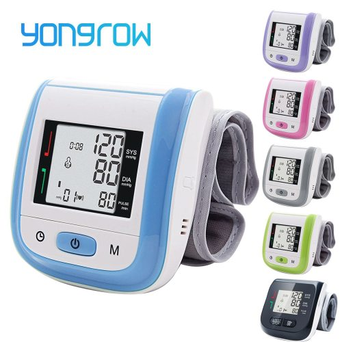 Medical Digital Wrist Blood Pressure Monitor Heart Rate Pulse Meter Measure Sphygmomanometer PR