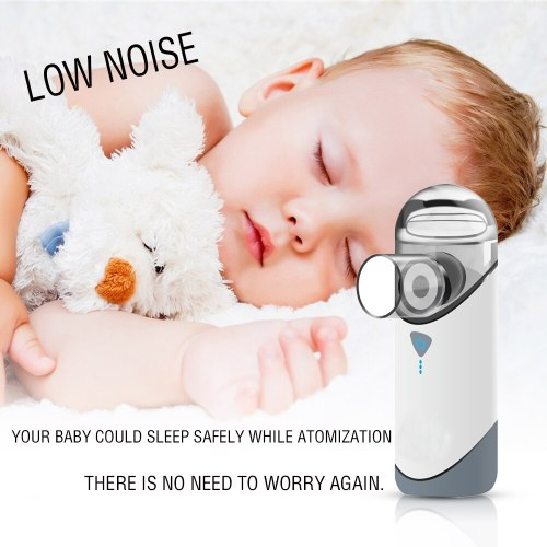 Mini Asthma Mesh Nebulizer Medical Travel Handheld Atomizer USB Rechargeable Inhaler Baby Adult Children COPD IPX7 Waterproof