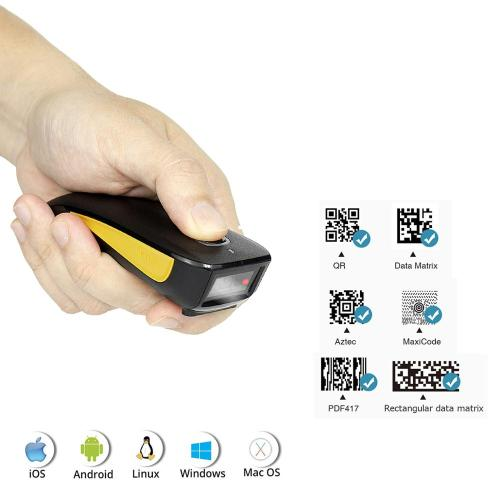 NT-L5 Wired 2D Barcode Scanner AND C750 Wireless Bluetooth QR Bar code Reader PDF417 Scanner for mobile payment Industry