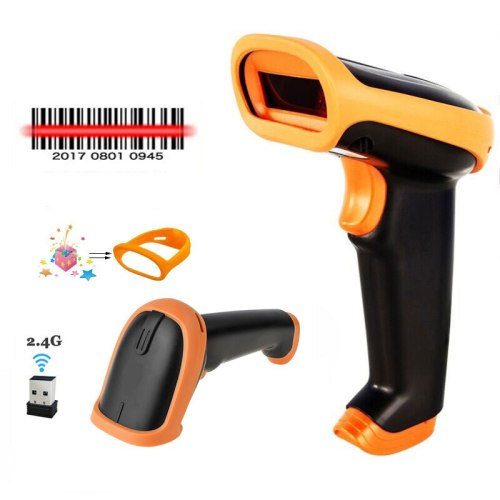 Wireless Barcode Scanner 2.4G CCD Bar Code Reader handheld Wireless/Wired Scanner For POS and Inventory S6