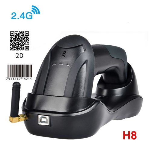 H6 Wirelress Barcode Scanner And RD-H8 1D/2D QR Bar Code Reader PDF417 for for POS and Inventory
