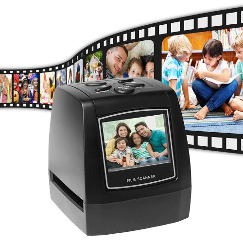 Portable 5MP 35mm Negative Film Scanner Negative Slide Photo film Converts USB Cable with 2.4  LCD