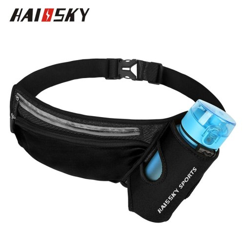 Haissky Waist Bag Belt Water Bottle Pouch Phone Bag For iPhone SE 2020 11 Pro Max X XR Xs Hiking Fitness Lightweight Waist Pack