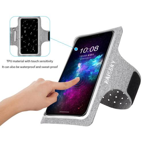 Haissky Waterproof Sport Armbands For iPhone 11 11 Pro Max X 6 7 8 Plus 6.7 Inch Universal Armband Cover For Samsung S10 A70 A50