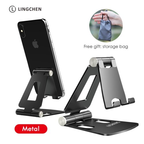 Phone Holder Stand for iPhone 11 Xiaomi mi 9 Metal Phone Holder Foldable Mobile Phone Stand Desk For iPhone 7 8 X XS