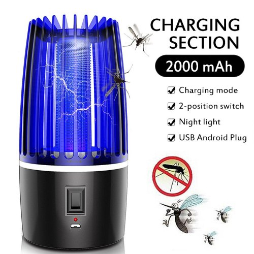 2020 New 2 in 1 Rechargeable USB Anti-mosquito Lamp Kills Insects LED Insecticide Pest Repeller Camping Light Mosquito Killer