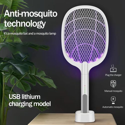 2500V Electric Mosquito Killer With UV Lamp USB 1200mAh Rechargeable Bug Zapper Summer Fly Swatter Trap Home Bug Insect Racket