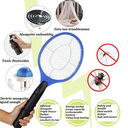 5 Color Portable Hand Held Bug Zapper Electric Insect Fly Swatter Racket Mosquito Killer Pest Control For Bedroom Outdoor Summer