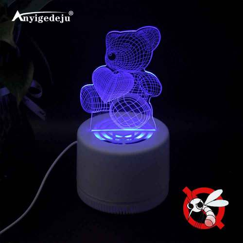 3D LED Illusion Mosquito Zapper Mosquito Bug Zapper Fly Swatter Creative Mosquito Lamp Fly Trap Mosquito Trap Racket