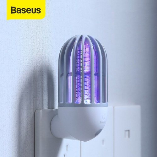 Baseus Socket Electric Mosquito killer Lamp LED Electronic Repellent Insect Zapper Trap Lamp Fly Bug Zapper Night Light For Home