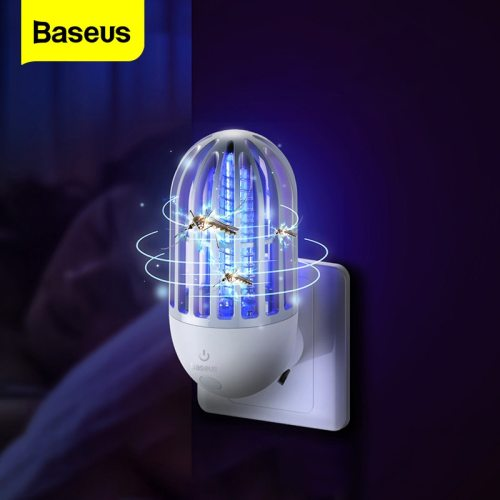 Baseus Electric Mosquito Killer Lamp Fly Bug Zapper Insect Killer LED Light Trap Pest Repellent Anti Mosquito Night Light Indoor