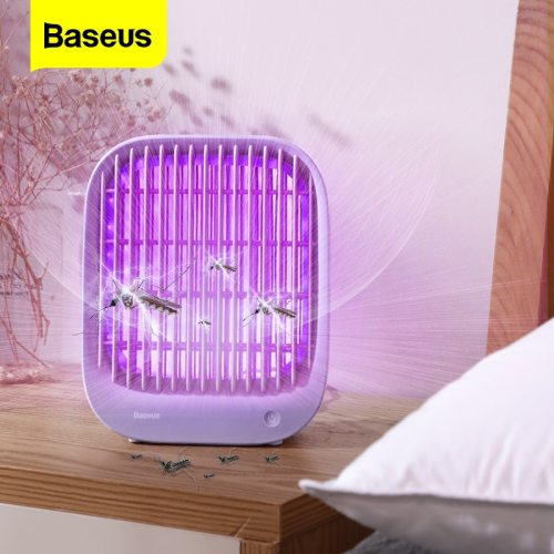 Baseus LED Mosquito Killer Lamp UV Light USB Electric Insect Killer Bug Zapper Trap Anti Mosquito Lantern Pest Repellent Lamp