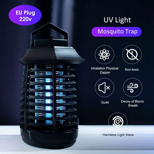 110V/ 220V Portable Electric LED Mosquito Insect Killer Lamp Fly Bug Repellent Anti Mosquito UV Night Light EU US Plug zapper