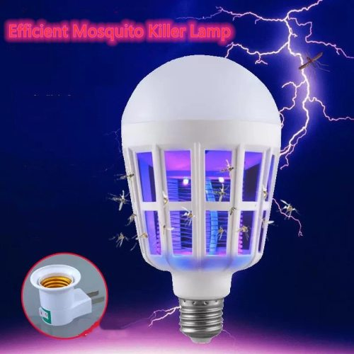 220V E27 UV LED Bulb 9W Mosquito Killer Lamp 2 In 1 Mosquito Trap Insect Killer Light Bulb Fly Bug Zapper Night Light For Baby