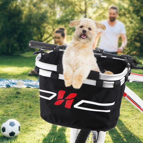 Bicycle Bag Bicycle Front Basket Collapsible Bike Handlebar Basket Pet Cat Dog Carrier Bag Shopping Commuting Free Shipping