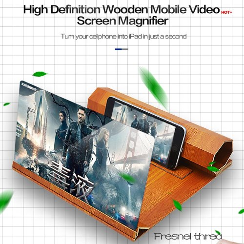 12 Inch Mobile Phone Video Screen Magnifier Radiation-proof Phone Screen Amplifying Glass Desktop HD Bracket 3D Amplifier Holder